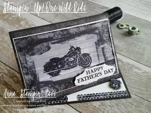 One Wild Ride Father's Day Card Twisted Easel Card