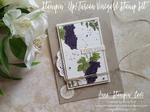 Pinkies annual catalogue blog hop tuscan vineyard anna stampin tuscan vineyard for you card m4hsunfo