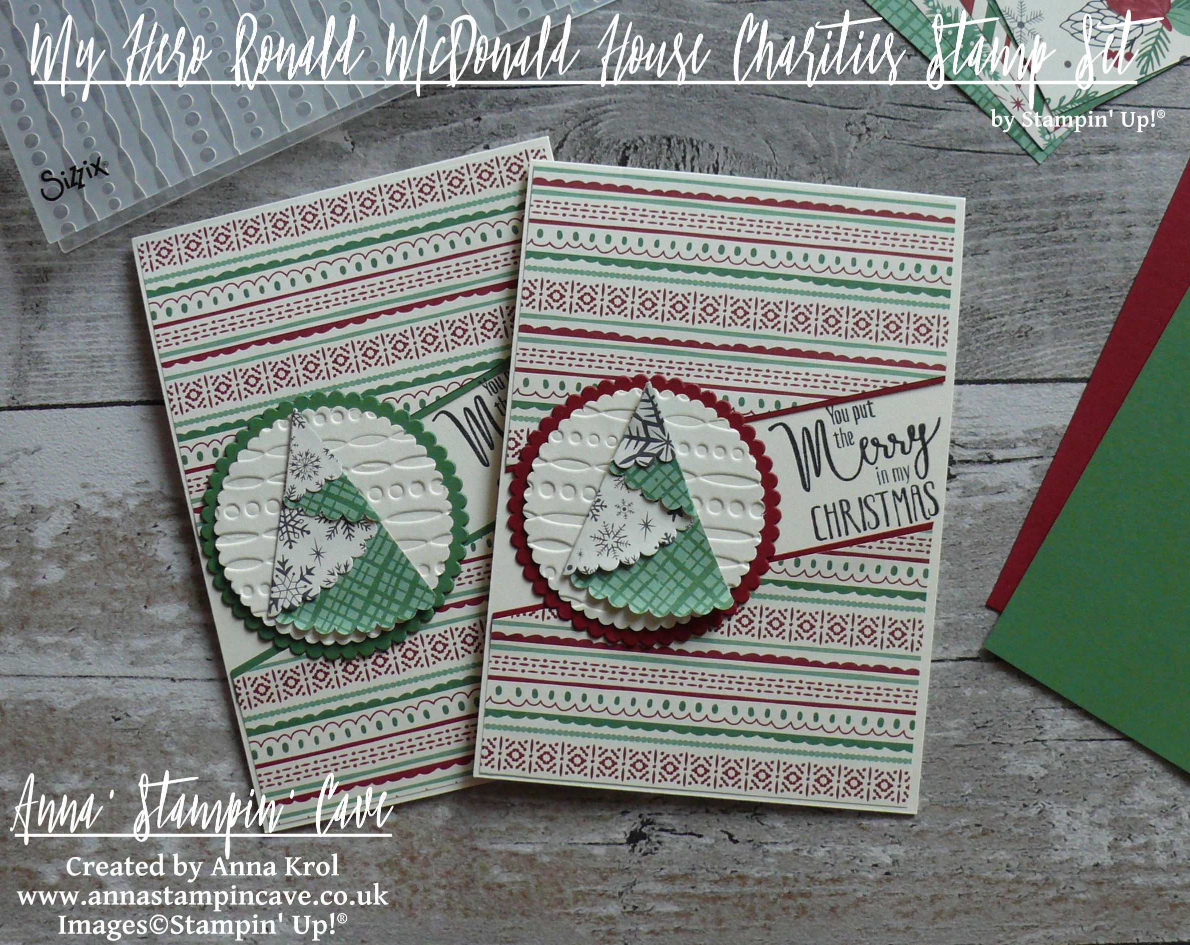 Stampin Up My Hero Rmhc Stamp Set You Put The Merry In My