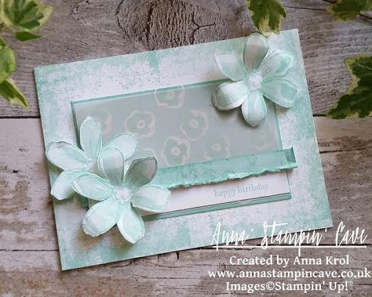 stampin up, garden in bloom, vellum, whisper white, pool party, timeless texturess, anna stampin cave, anna krol, demonstrator coventry