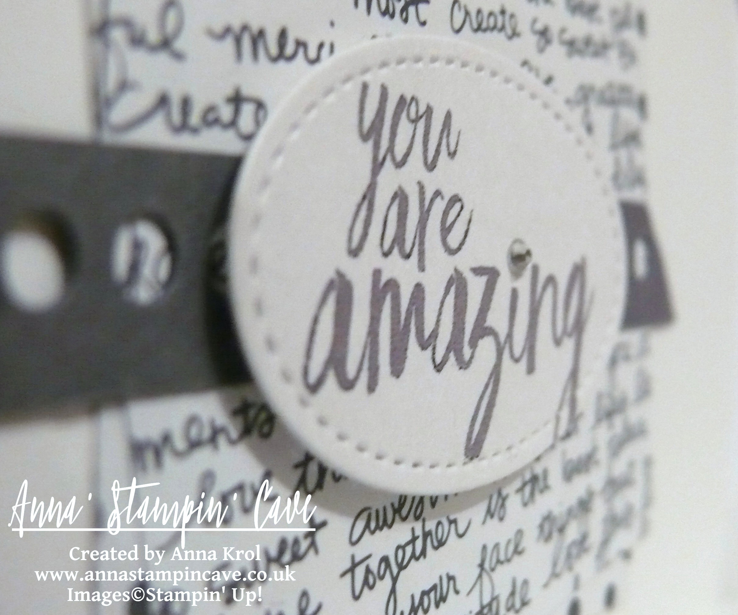 Anna' Stampin' Cave - Stampin' Up! All Things Thanks Stamp Set CAS Card You Are Amazing