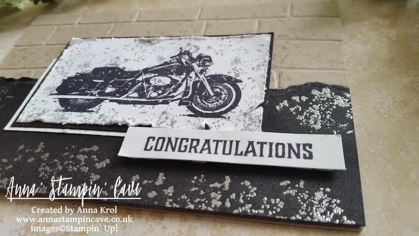 Anna' Stampin' Cave - Stampin' Up! One Wild Ride - masculine congratulations card for GDP#078