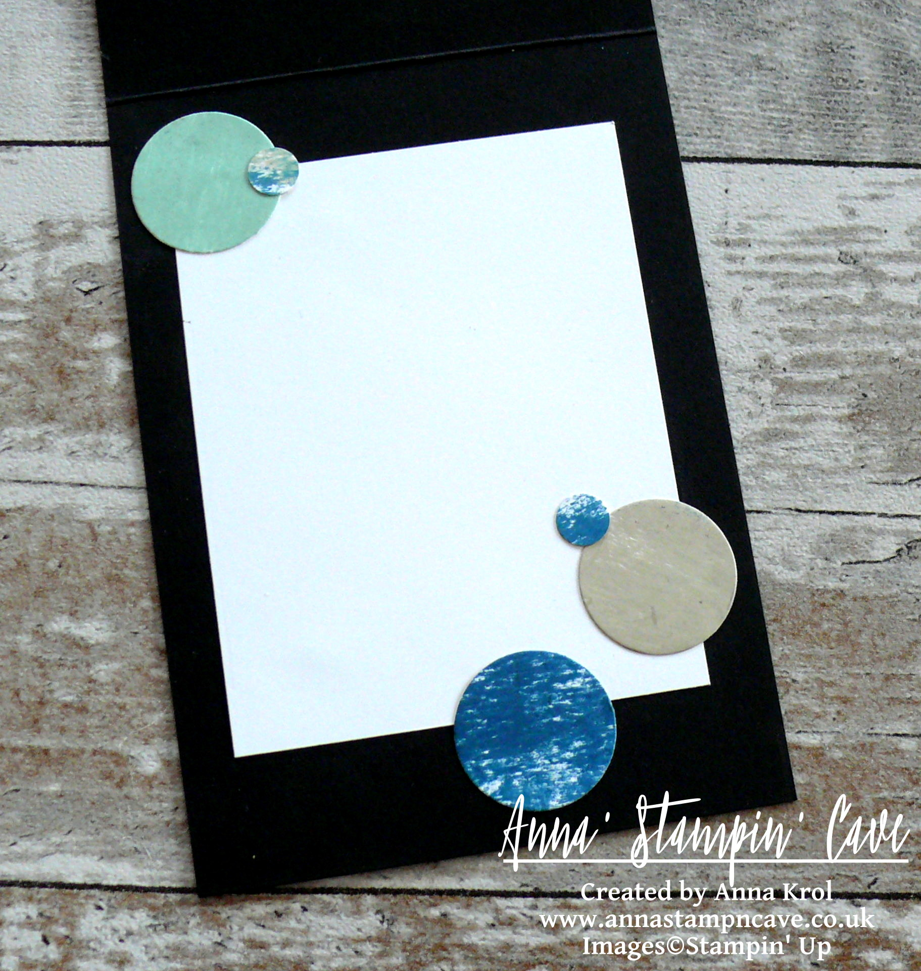 Anna' Stampin' Cave - Stampin' Up! Painter's Palette and Blooms and Bliss DSP - A Little Expression Of Love Card - card inside