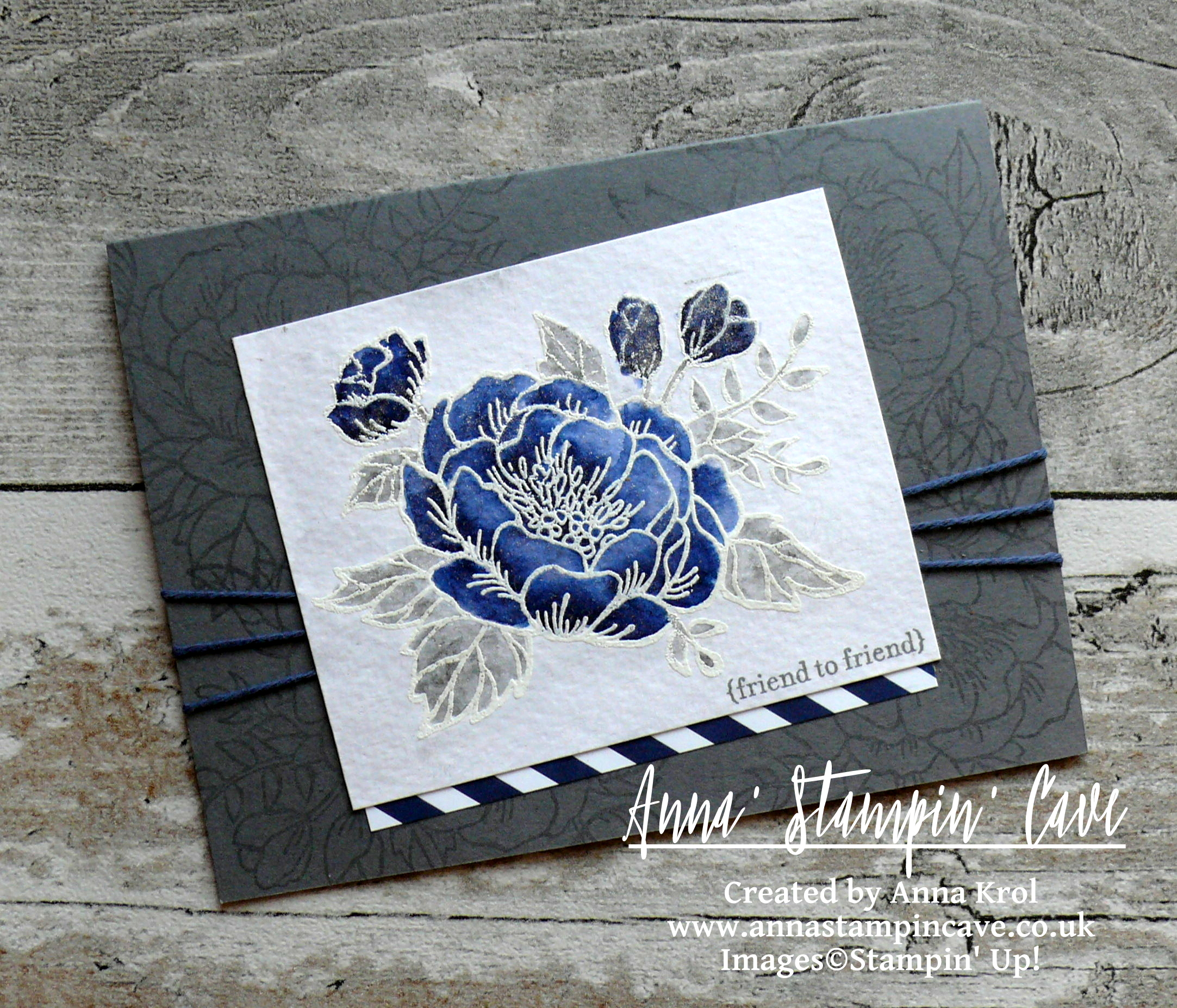 Anna' Stampin' Cave_Stampin' Up! Birthday Blooms Stamp Set_Watercolour Card_Basic Grey Night Of Navy 2.JPG