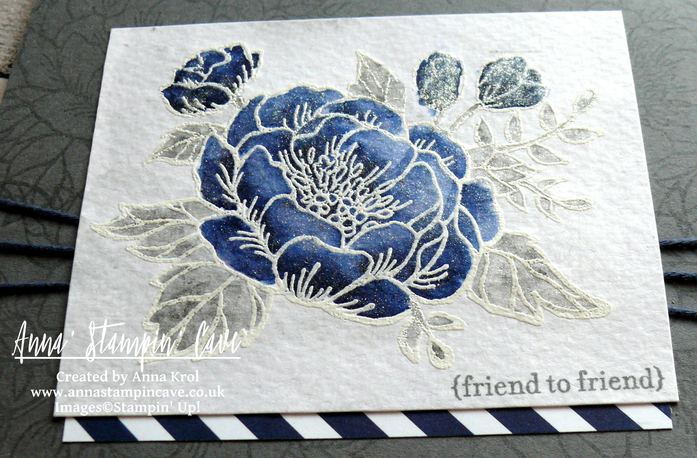 Anna' Stampin' Cave_Stampin' Up! Birthday Blooms Stamp Set_Watercolour Card_Basic Grey Night Of Navy 3.JPG