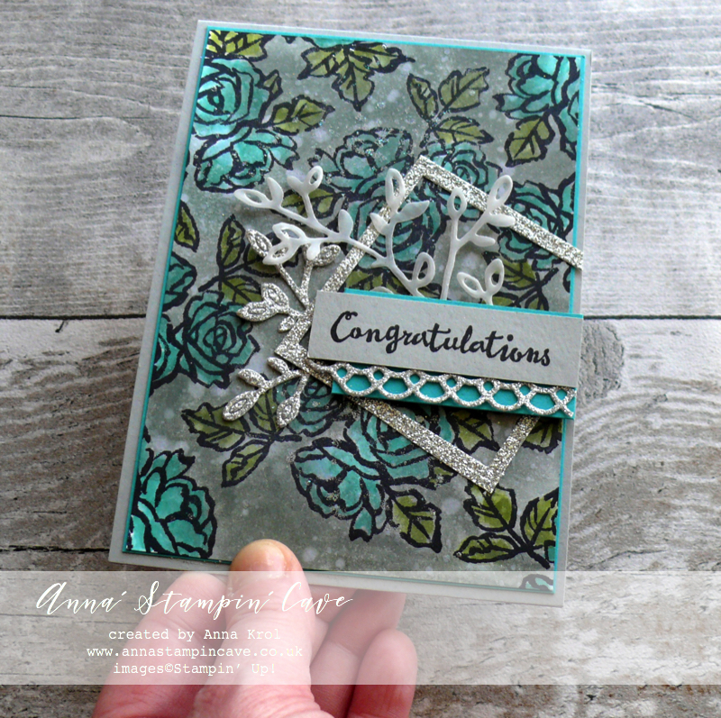 Anna' Stampin' Cave - Stampin' Up! Petal Palette Stamp Set and Petals & More Thinlits Dies - Bedazzled with Silver