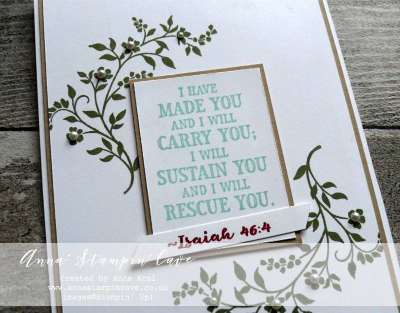 Anna' Stampin' Cave - Stampin' Up! Hold On To Hope Stamp Set - Bible Scriptures - Clean & Simple - Faith Card