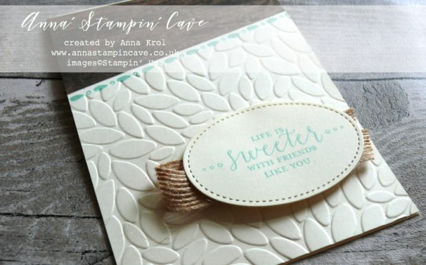 Anna' Stampin' Cave - friendship rustic card using Stampin' Up! Detailed with Love Stamp Set