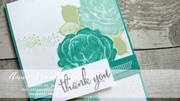 Anna' Stampin' Cave - Customers Thank You Cards using DistINKtive Healing Hugs Stamp Set by Stampin' Up! in Bermuda Bay