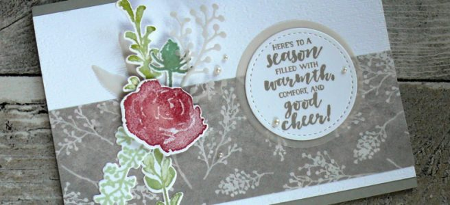 Anna' Stampin' Cave - Stampin' Up! Sneak Peek First Frost Stamp Set with Frosted Bouquet Framelits Dies and Frosted Floral Specialty DSP