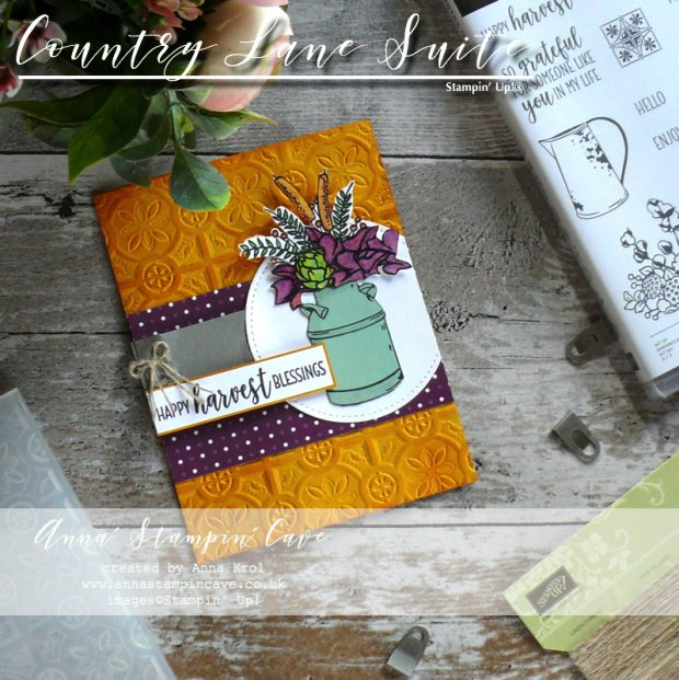 Anna' Stampin' Cave - Country Home Stamp Set with Country Lane DSP & Tin Tile Dynamic Textured Embossing Folder from Stampin' Up!