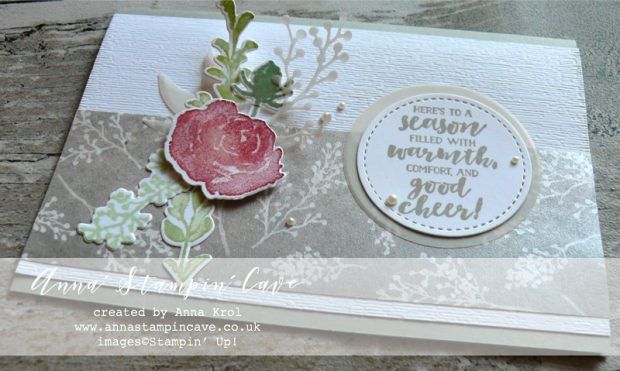 Anna' Stampin' Cave Stampin' Up! Sneak Peek First Frost Stamp Set with Frosted Bouquet Framelits Dies and Frosted Floral Specialty DSP