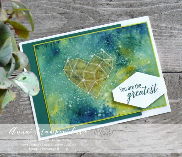 Anna' Stampin' Cave - Teachers Thank You Card with Watercolour Wash using Brusho Crystal Colour, Little Twinkle Stamp Set & Tropical Chic Stamp Set from Stampin' Up!