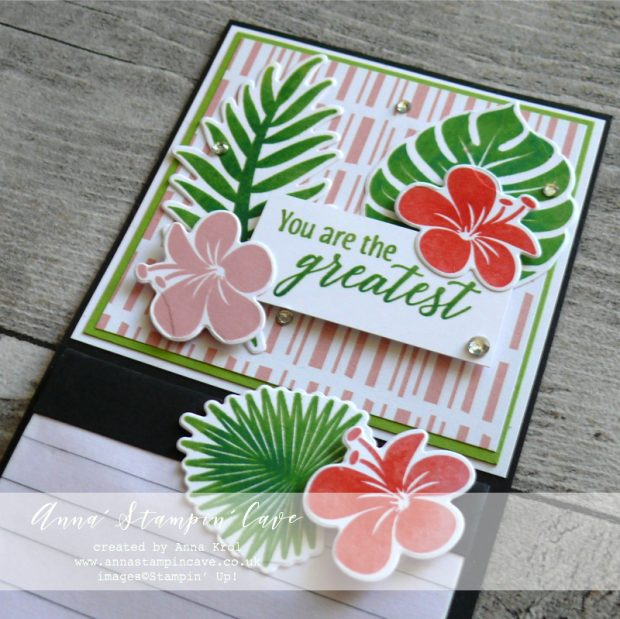 Anna' Stampin' Cave Teacher's Thank You Gift Fridge Magnet using Tropical Chic Stamp Set and Tropical Thinlits Dies from Stampin' Up!