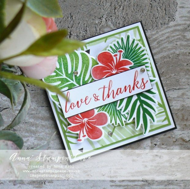 Anna' Stampin' Cave - Teachers Thank You card using Tropical Chic Stamp Set and Tropical Thinlits Dies from Stampin' Up!