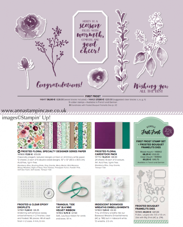 Stampin' Up! Frosted Foral Suite of products
