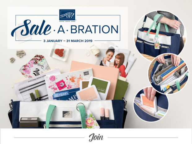 Anna' Stampin' Cave Sale-a-bration 2019 join my crew